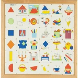 幾何圖形配對分類排列拼圖形狀拼板